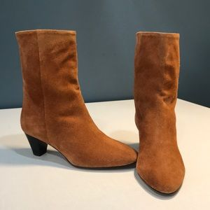Isabel Marant Etoile Sueded Beige 6M Ankle Boots